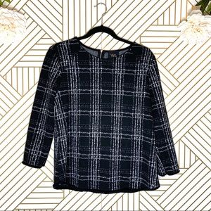 W5 | Anthropologie Plaid Sweater Style Top